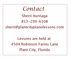 Contact Sherri for Piano Lessons